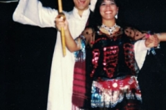 Adam Besma and Freida Butros performing a Saidi dance.
