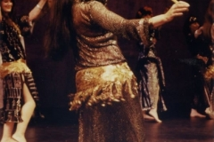 Aisha Ali performing an Asaya Dance with her dance company at the Ivar Theater during the Los Angeles Festival. 1993