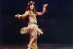 Aisha Ali performing an Egyptian Awalem dance at the Ivar Theater.