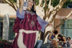 Aisha Ali performing a Tunisian Jar dance during the Los Angeles Festival