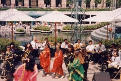The Aisha Ali Dance Company performing a Khaliji dance with the Nabil Azam Ensemble at California Plaza for Michael Alexander.