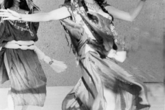 Cheryl and Rita performing a Tunisian dance at the Museum of Natural History in Los Angeles. 1980s