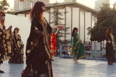 Katya Mastellos performing a Khaliji dance with the Aisha Ali Dance Co. for the Los Angeles Folk Arts and Craft Museum.