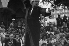 Mundo Mezza performing Tahtib with the Aisha Ali Dance Co. in Westwood Village for the United Nations Festival.