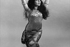 Aisha Ali posing in an Asyuti toub. 1960s