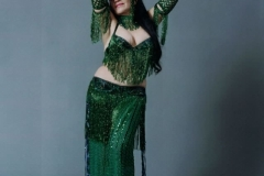 Aisha in Green Sharqi Costume