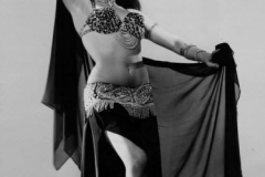 Aisha in Las Vegas–Black and rhinestone–1963