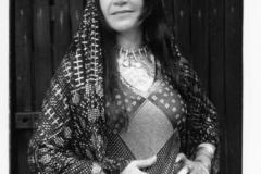 Aisha wearing an Asyuti tarha