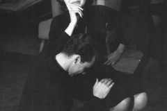 Aisha at Theater Craft Workshop with scene partner Frank Langella circa 1960