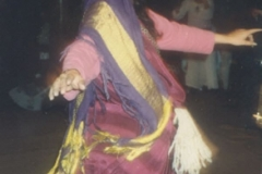 Juliet's Modeling Tunisian costume at Mendicino Dance Camp.