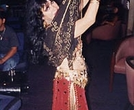 Alise from Lebanon performing at a party.
