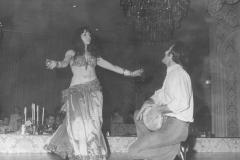 Aisha Ali and Saadoun Al Bayati performing at the Beverly Hilton.