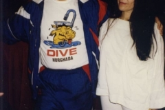 Aisha Ali and Mahmoud Reda during one of his tours in California.