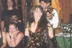 Aisha performing at the Mendocino Dance Camp.