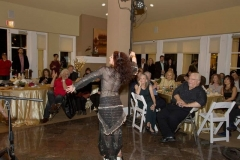 Jaynie Aydin performing raqs sharqi for Aisha's party at the Bel Air Crest Club House 2016