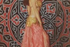 Gilda with Khyma backdrop. - 2