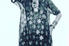 Jamila circa 1970s wearing a tulle bit telli caftan.