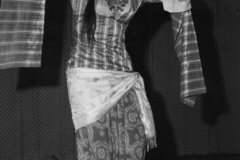 Leona Wood performing a sword dance at an Arab Haflah organized by Mustapha Akkad during the early 1960s.
