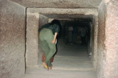 Aisha leading her group through one of the tombs in Egypt.