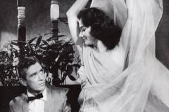 Zenouba performing in a film with Robert Lancing. 1960s.