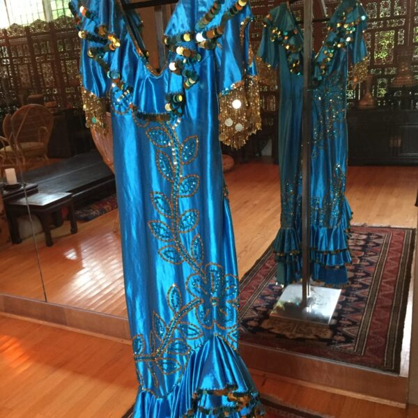 IMG 1026 e1559197672989 600x600 - Turquoise Madam Abla Baladi Dress