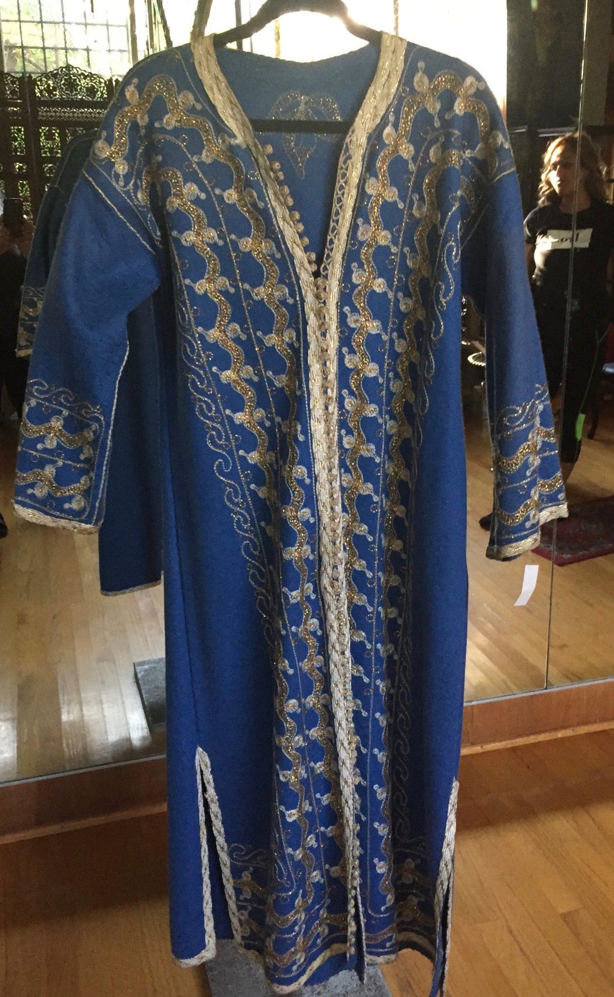 Wool Felt Caftan - Moroccan Caftan: Blue Wool Felt