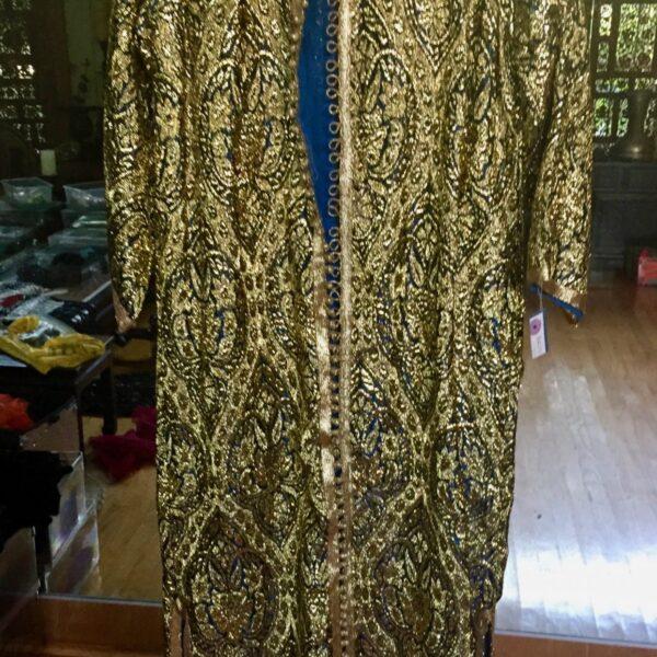 Gold Caftan 600x600 - Moroccan Caftan: Woman's Gold Brocade Caftan