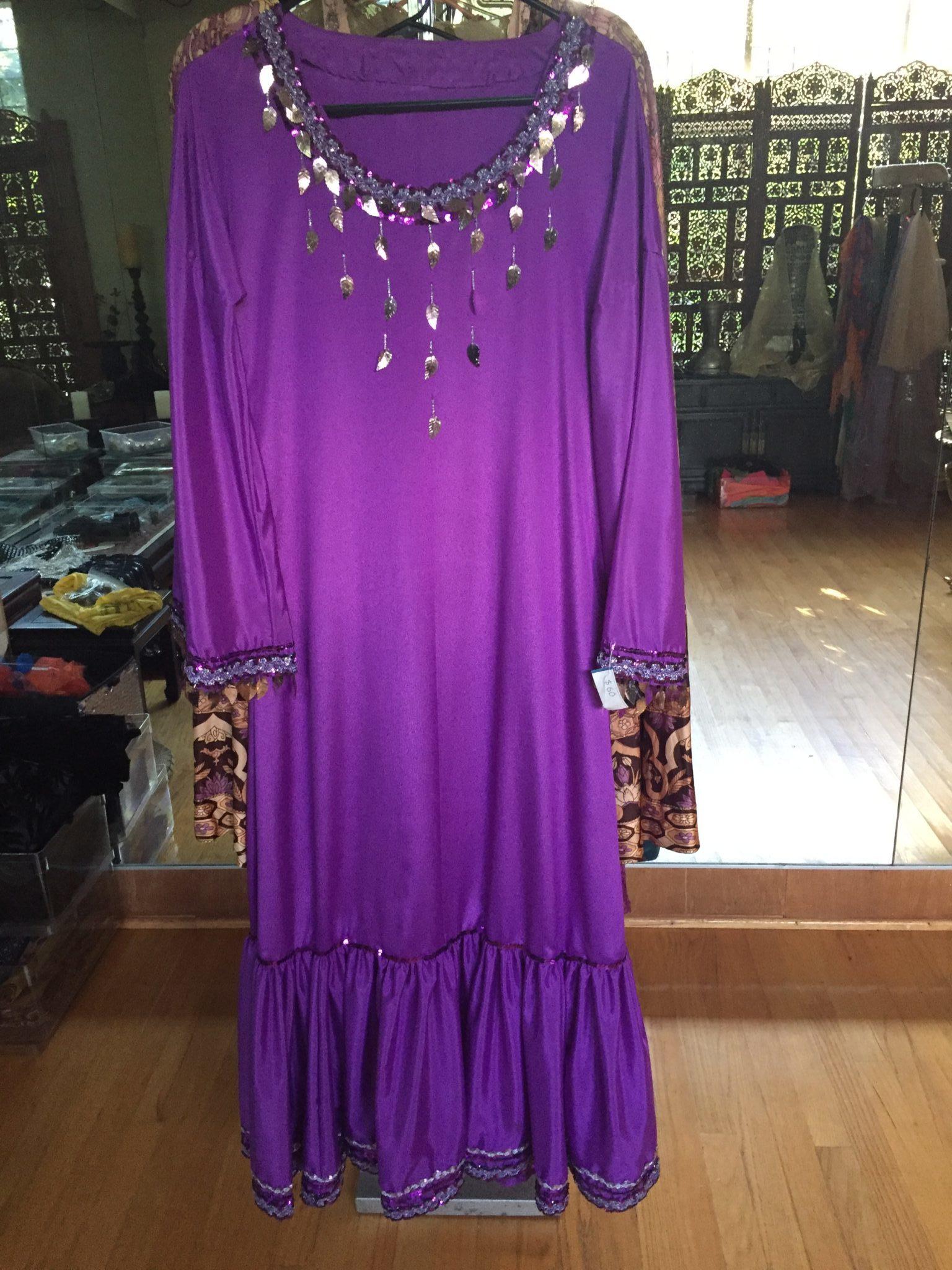 IMG 0848 e1559364983397 - Balady Dress: Purple Egyptian Galabeya