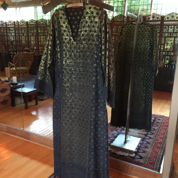 KirdassaCaftan e1559176438909 600x600 - Vintage Black and Gold Egyptian Caftan