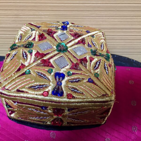 IMG 1141 600x600 - Head Pieces: Embroidered Oriental Hat SOLD!