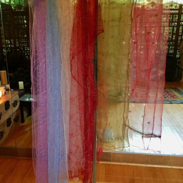 Veils 600x600 - Veils: Silk and nylon  – $10 ea.