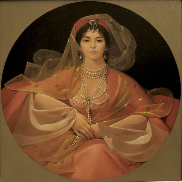 Portrait of a Ghazeeyah copy 600x600 - LW Portrait Print of Aisha Ali as a 19th Century Ghazeeyah