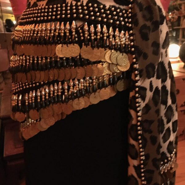 IMG 0195 600x600 - Gold Coins and Beads on a Leopard Print Hip Belt